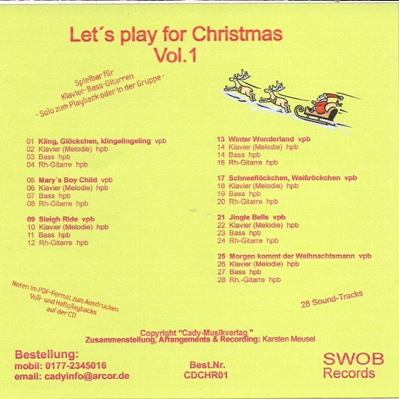 Let´s play for christmas Vol. 1a